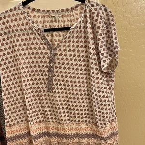 Lucky brand boho super soft cotton T